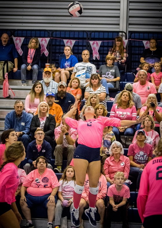 GHS volleyball sweeps conference games